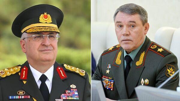 خبرنگاران روسای ستاد ارتش روسیه و ترکیه درباره سوریه و لیبی گفت وگو کردند